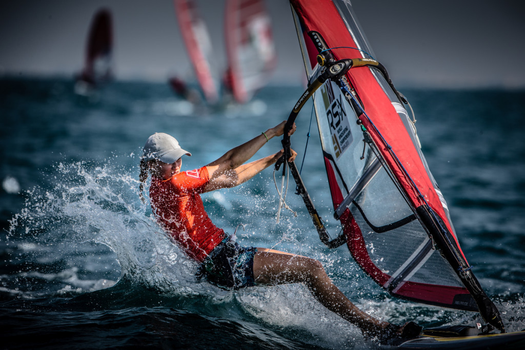 RS:X WORLD CHAMPIONSHIP 2015, October 17th-24th Al Mussanah Sports City, Sultanate of Oman.First day of racing 19.10.2015 Credit Jesus Renedo/Oman Sail