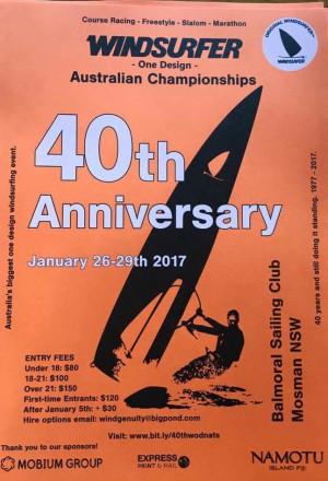 Copia di 40th Anniversary Windsurfer One Design Australian Championship
