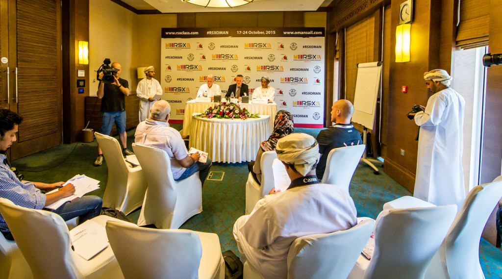 RS:X WORLD CHAMPIONSHIP 2015, October 17th-24th Al Mussanah Sports City, Sultanate of Oman.Press Conference  16.10.2015 Credit Jesus Renedo