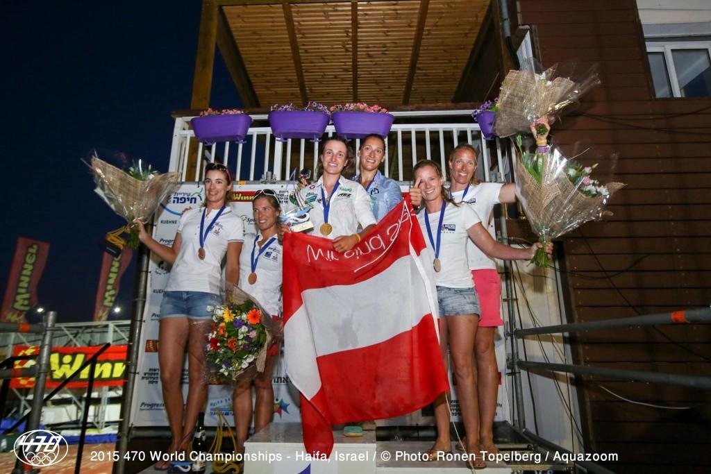 mondiali 470 podio femminile foto ronen topelberg aquazon
