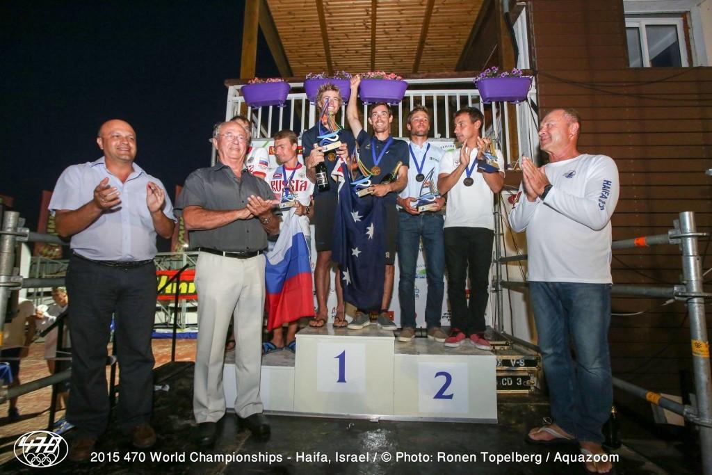 mondiali 470 podio maschile foto ronen topelberg aquazon