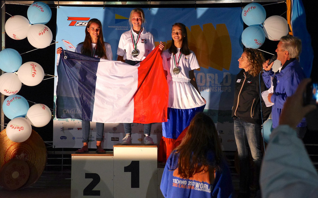 Mondiali Techno 293 giovanili podio Under 15 F