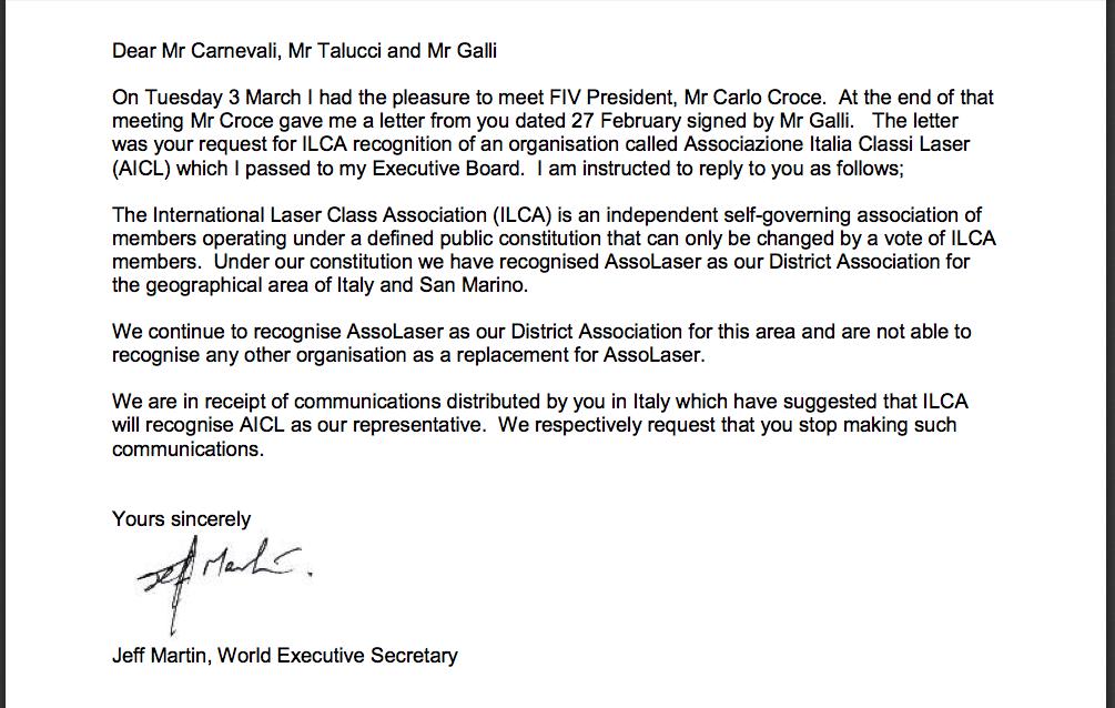 Lettera ILCA a Ailca 2015-03-17 alle 22.14.19