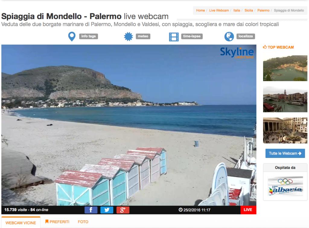 Webcam aperta al mondo una nuova finestra sulla spiaggia di palermo - Aprire una nuova finestra ...
